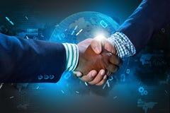 Successful business people handshaking Stock Photo