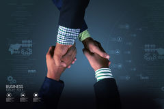 Successful business people handshaking Stock Photos