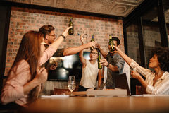 Successful business people having a work party Royalty Free Stock Photography