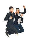 Successful business people jump Royalty Free Stock Image