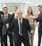 Successful business people looking happy and confident Stock Image
