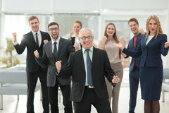 Successful business people looking happy and confident Stock Images