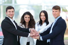 Successful business people looking happy and confident Royalty Free Stock Photos