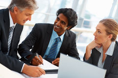 Successful business people at a meeting Stock Images