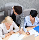 Successful business people at the seminar Stock Images