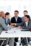Successful business people shaking hands Royalty Free Stock Image