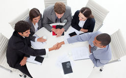 Successful business people shaking hands Stock Image