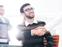 Successful Business People Shaking Hands With Each Other Stock Photos