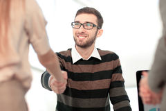 Successful Business People Shaking Hands With Each Other. Stock Photos