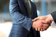Successful business people shaking hands  at the meeting Royalty Free Stock Photography