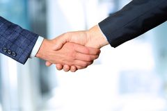 Successful business people shaking hands  at the meeting Stock Photo