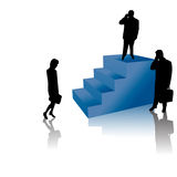 Successful Business people on Stairs Royalty Free Stock Photography
