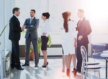 Successful busines team  in a modern office Royalty Free Stock Image