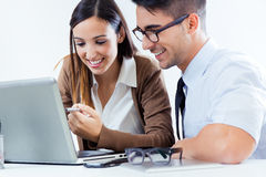 Successful business people at work Royalty Free Stock Photography