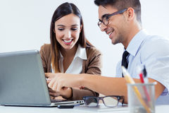 Successful business people at work Royalty Free Stock Images