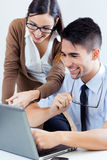 Successful business people at work Stock Images