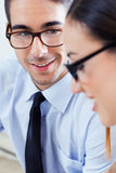 Successful business people at work Royalty Free Stock Photos