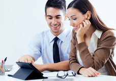 Successful business people at work Stock Image