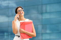Successful business phone call stock photo