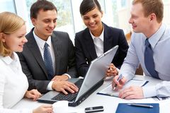 Successful business plan Royalty Free Stock Photo