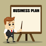 Successful business with  plan. Cartoon Vector Illustration. Stock Image
