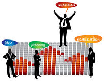 Successful business step. A successful business steps - abstract illustration Royalty Free Stock Image