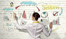 Successful business strategy plan Stock Image