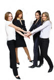 Successful business team. Successful business women team happy working together Stock Images