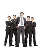 Successful business team. Full length of successful business team royalty free stock images