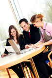 Successful business team. Is talking about some worksheets Royalty Free Stock Image