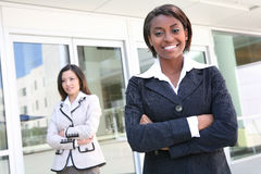 Successful Business Team. A successful business team of diverse women royalty free stock photos