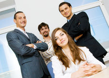 Successful business team. Focus on men behind Royalty Free Stock Images