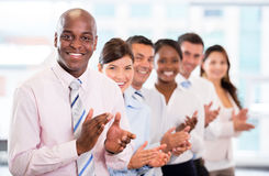 Successful business team applauding Stock Image