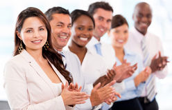 Successful business team applauding Stock Photos