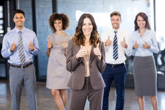 Successful business team celebrating their victory Royalty Free Stock Images