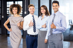 Successful business team celebrating their victory Royalty Free Stock Photo