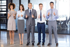 Successful business team celebrating their victory Stock Image