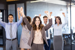 Successful business team celebrating their victory Royalty Free Stock Photography