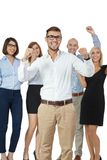 Successful business team cheering Stock Photography