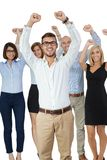 Successful business team cheering Royalty Free Stock Images