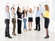 Successful Business team. Congratulates colleague on the exposure stock photography