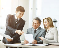 Successful business team discussing the company`s work plan Royalty Free Stock Photography