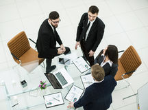 successful business team discussing marketing graphics at the workshop meeting Royalty Free Stock Image