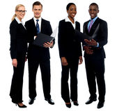 Successful business team discussing operations Stock Photo