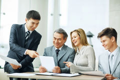 Successful business team discussing the plan Stock Photography