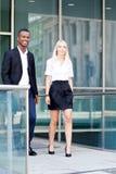 Successful business team diversity outdoor summer Stock Photo