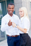 Successful business team diversity outdoor summer Royalty Free Stock Photography