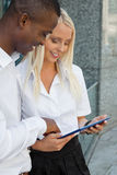 Successful business team diversity outdoor summer Royalty Free Stock Images