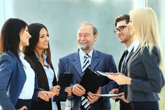 Successful  business team with documents in office Stock Image