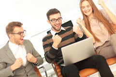 Successful business team finished great job Stock Image